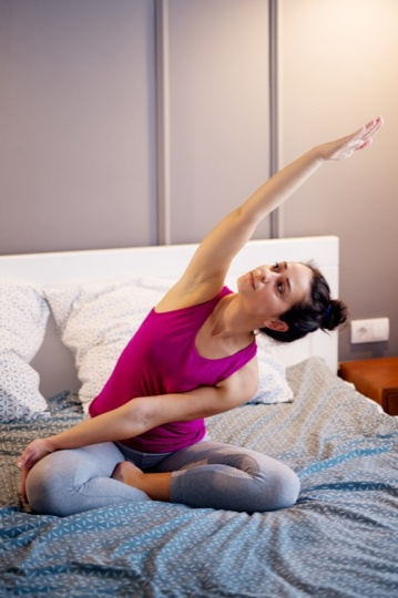 Yoga in Bed Benefits