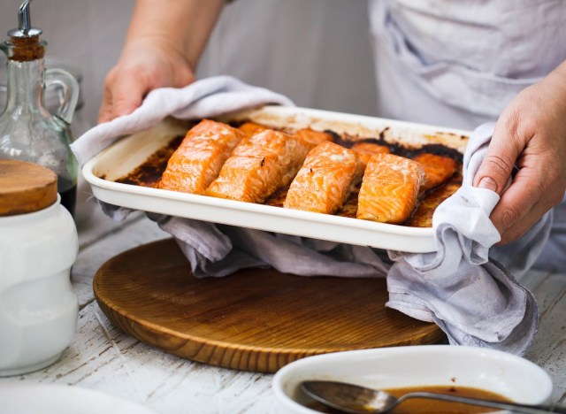 Baked Salmon on Oven Tray