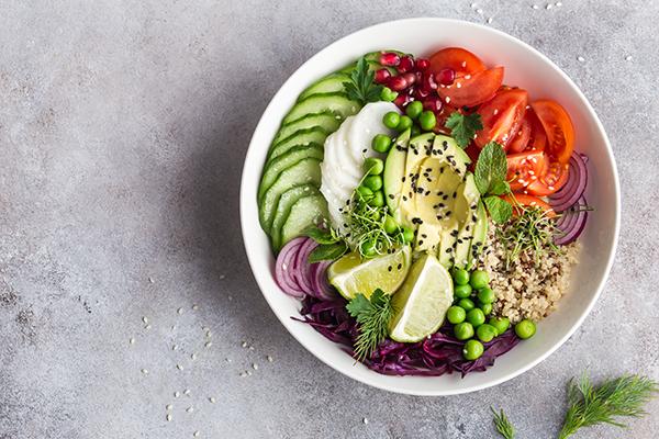 Healthy Vegetarian Salad in a bowl