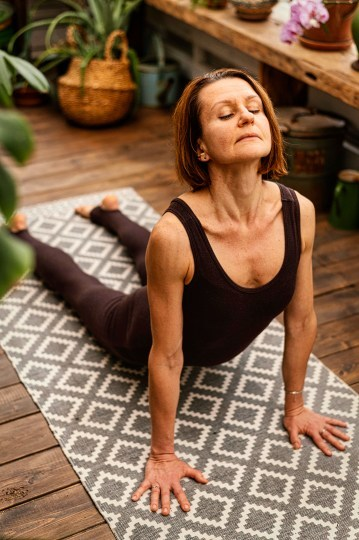 yoga pose for aging