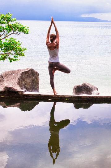 eating disorder yoga pose