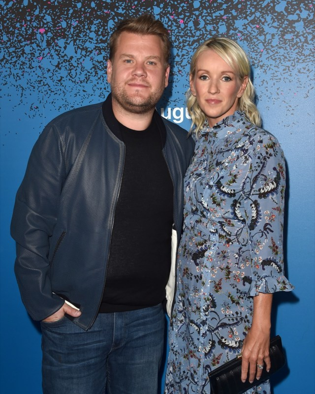 james corden and wife julia carey on the red carpet