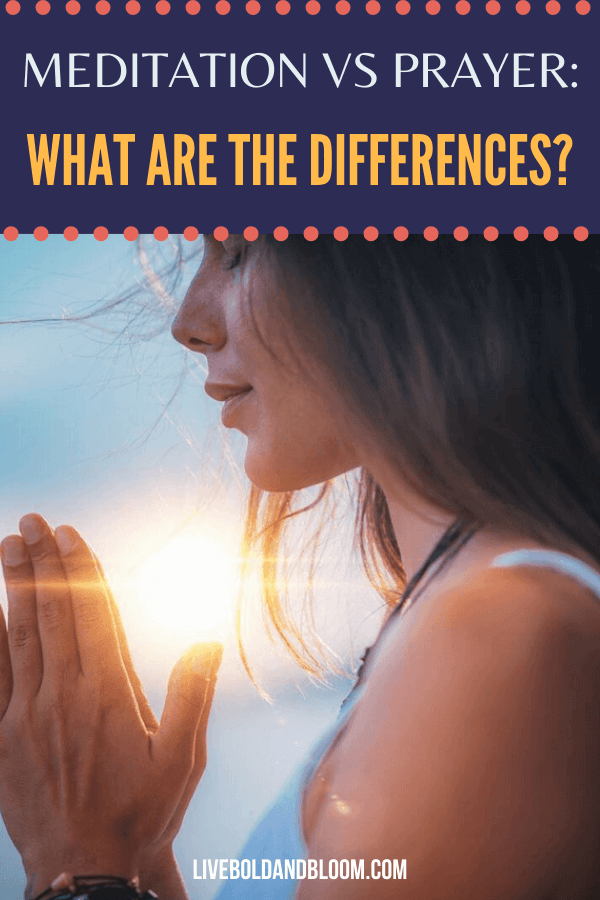 What is meditation and what is prayer?  Read this post about meditation vs. prayer to know more and whether they can be done together.