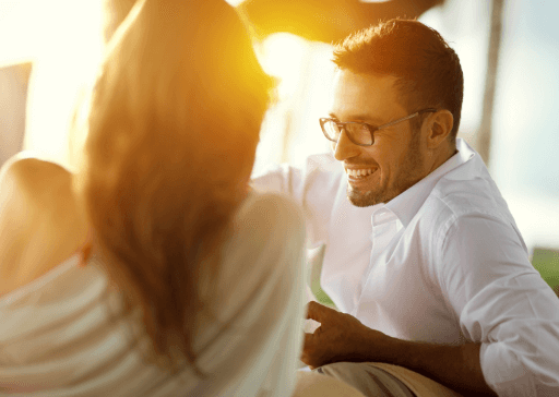 signs he likes you but is afraid of rejection
