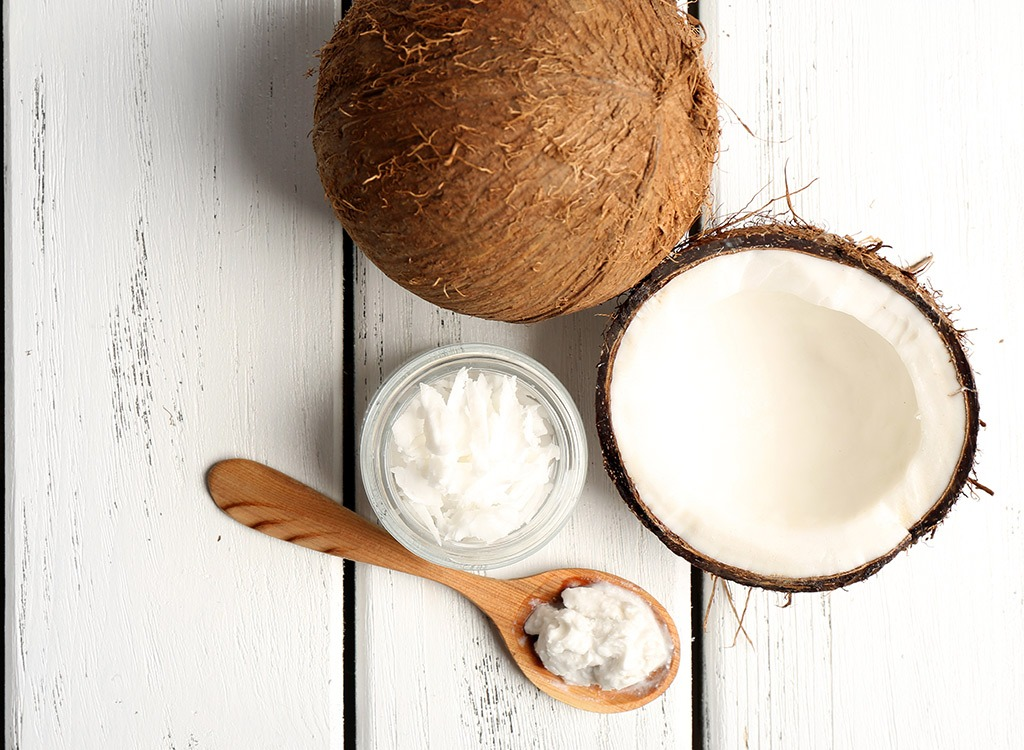 coconut oil with spoon