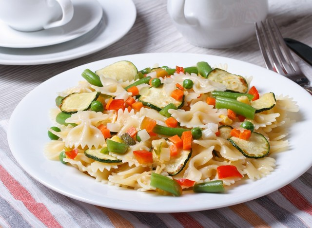 pasta with big and little plates