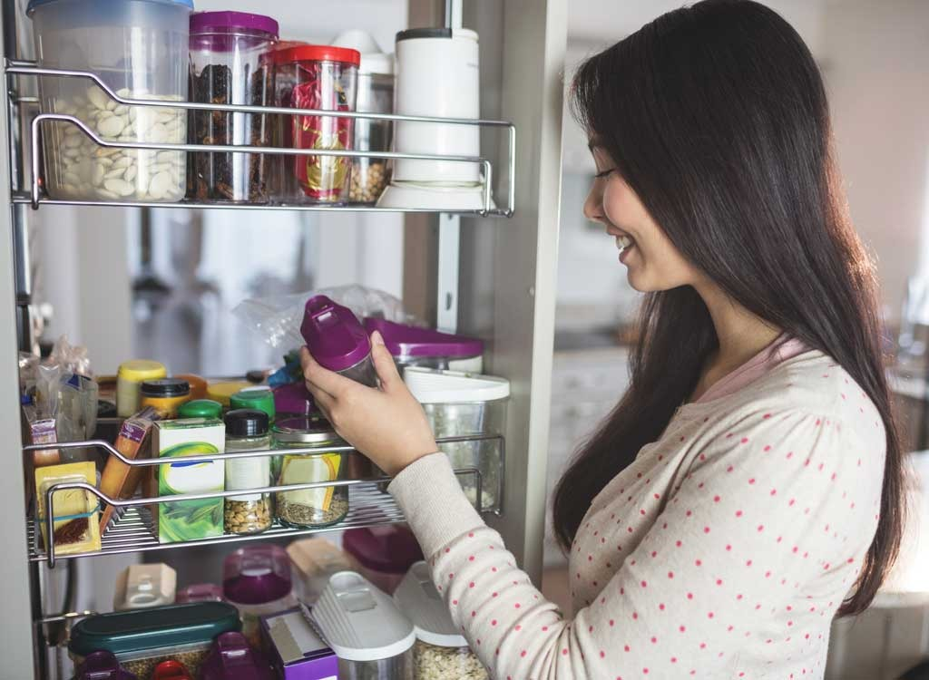 pantry and woman