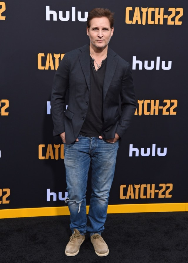 peter facinelli in jeans and a blazer