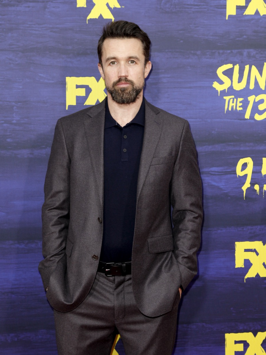 rob mcelhenney in gray suit