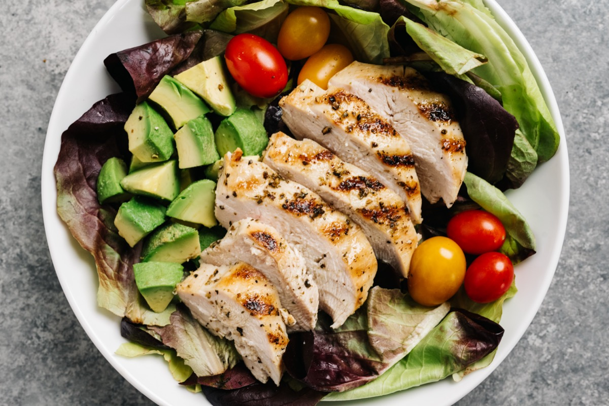 Whole30 grilled chicken salad